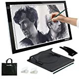 Yaufey A3 Light Box LED Artist Stencil Board Tattoo Drawing Tracing Table Display Light Box Pad (A3 USB)