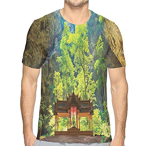t Shirt for Men Natural Cave,Latent Pavillion Cliff Custom t Shirt XL