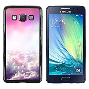 Paccase / SLIM PC / Aliminium Casa Carcasa Funda Case Cover para - Sky Clouds Flying Pink God - Samsung Galaxy A3 SM-A300