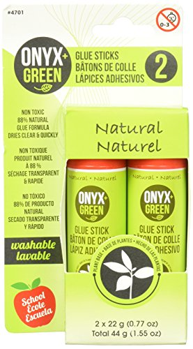 Onyx and Green 4701 Glue Sticks, Non-Toxic, 2 Piece ()