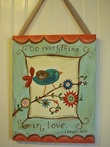 (Do Everything in Love Canvas Art Painting 11x14)