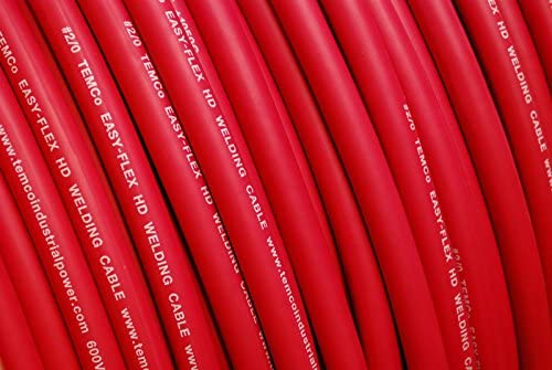 WELDING CABLE 1//0 RED 125/' FT BATTERY LEADS USA NEW Gauge Copper AWG