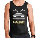 Coto7 Delorean Back to The Future Roads Quote Men's Vest
