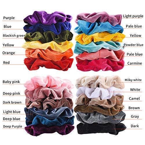 Premium Korean Velvet Hair Scrunchies Hair Bands Scrunchy Hair Ties Ropes Scrunchie for Women or Girls Hair Accessories with collection bags