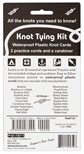 Knot Tying Kit Pro Knot Best Rope Knot Cards Two Practice