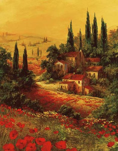 Toscano Valley I by Art Fronckowiak Landscapes European Tuscany Print Poster (Choose Your Size)