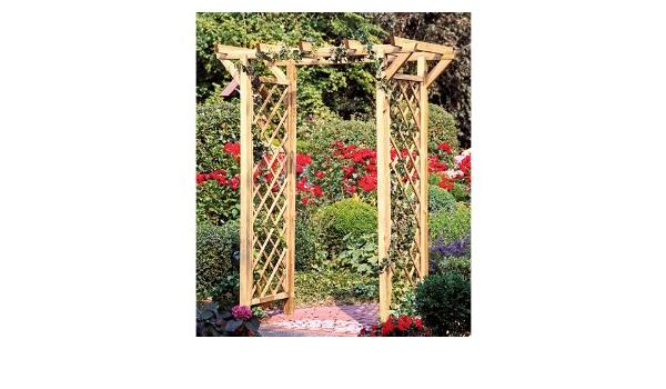 Pergola/Rose arco con enrejado/pérgola de madera y un ...