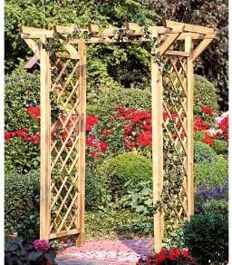 Pergola/Rose arco con enrejado/pérgola de madera y un rendimiento ancho de 100 cm de madera de druckimprägnierten: Amazon.es: Jardín