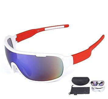 582fa4995f Lorsoul Polarized Sports Cycling Sunglasses Bike Glasses for Men Women  Running Driving Fishing Golf Baseball Racing Ski Goggles (White Red)   Amazon.ca  ...
