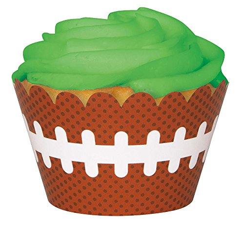 Unique 63403 Football Cupcake Wrappers