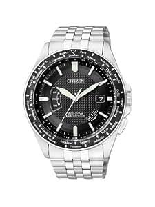 Citizen Promaster CB0021-57E - Reloj analógico de cuarzo para hombre, correa de acero inoxidable color negro