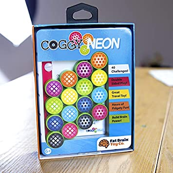 Fat Brain Toys Coggy Neon - Coggy Neon Special Edition Brainteasers for Ages 6 to 12