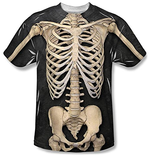 [Skeleton Costume Tee T-Shirt Size XXL] (Womens Skeleton Costumes Tshirt)