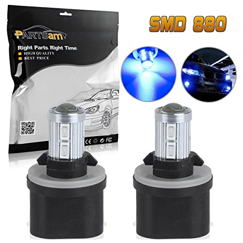 Partsam 2x 880 892 893 899 LED Bulbs Blue Fog Driving Lights Daytime Running light Bulbs Ultra Brihgt Led