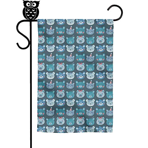 TylerLiu Garden House Flags Bears Schedule Decor Banner 12x18 Inches
