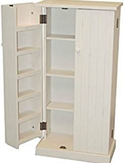 White Wood Storage Cabinet Pantry Cubpoard Utility Kitchen Food Cans Organizer  sc 1 st  Amazon.com & Amazon.com: Solid Wood Large Unfinished Kitchen Pantry / Cabinet ...