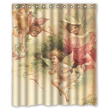 Amazon Elegant Sacred Beautiful Angel Custom Shower Curtain