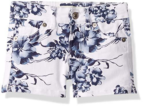 Levi's Girls' Toddler Denim Shorty Shorts, Xenon Blue/White, 2T ()