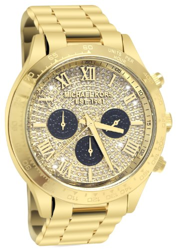 Layton Gold Tone Glitz Chronograph Watch by Michael Kors