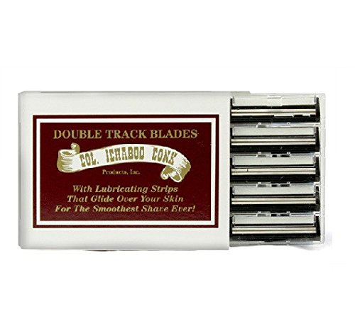 Colonel Ichabod Conk Trac II Razor Blades 10 ct. + FREE Travel Toothbrush, Color May Vary -