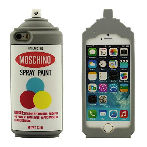 Original 3D Silikon Gel Spray Paint Flasche Modellieren iPhone SE Hülle Case Weich, Handy Tasche Cover für Apple iPhone 5 5S 5C 5G Anti-Shock Schutzhülle Prämie - Braun
