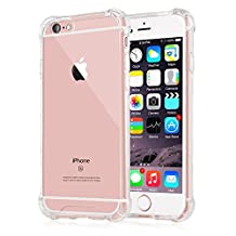 iPhone 6s Plus Case,Yoyamo iPhone 6s Crystal Clear Cover Case [Shock Absorption] with Transparent Hard Plastic Back Plate and Soft TPU Gel Bumper