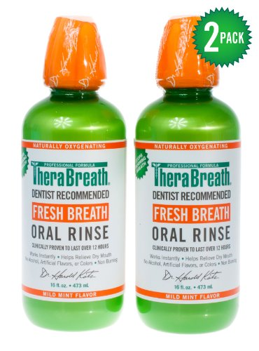 Dr. Katz TheraBreath Oral Rinse, 16-Ounce Bottles (Pack of 2), Health Care Stuffs