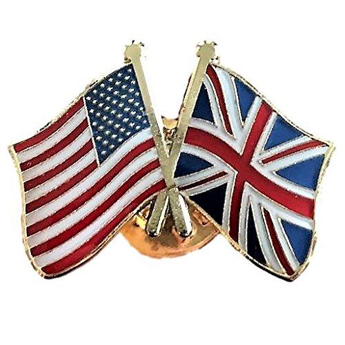 - Backwoods Barnaby USA-Great Britain Friendship Pin/American British (UK) Crossed Flags