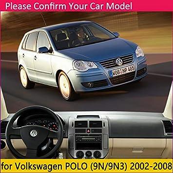 BENME Fundas de Salpicadero Tablero para Volkswagen VW Polo MK4 2002~2008 9N 9N3 Alfombrilla Antideslizante Almohadilla Dashmat Anti-UV Alfombra Accesorios para autom/óviles 2003 2007 2008
