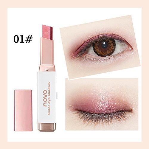 Price comparison product image Big promotion! Two-Color Eyeshadow Pen Hosamtel Waterproof Double Color Eyeliner Eye Shadow Pencil Makeup Eye Cream Stick Eye Liner Pen Cosmetic Eyeshadow (A)