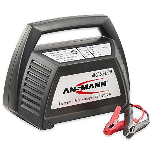 ANSMANN ALCT 6-24/10 Ladegerät Autobatterie  6V, 12V und 24Volt Bleiakkus, Bleilader Werkstattladegerät für KFZ , Roller, Motorrad, Boot