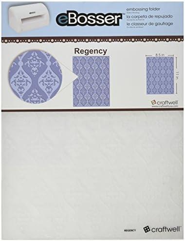 Craftwell USA Regency Embossing Folder 8.5 by 11-Inch