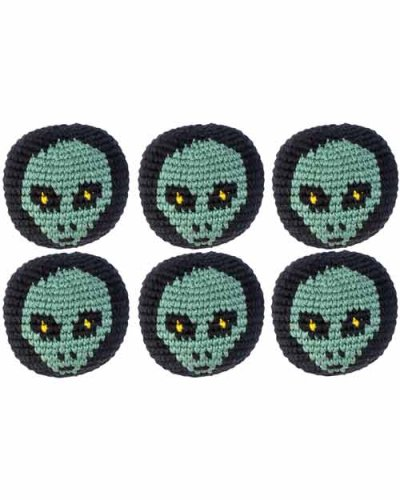 Turtle Island Imports Set of 6 Hacky Sacks - Alien