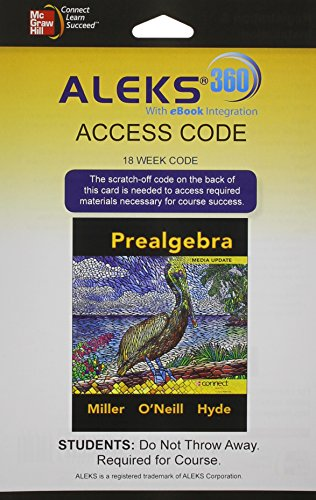 Aleks 360 Access Card 18 Weeks For Prealgebra