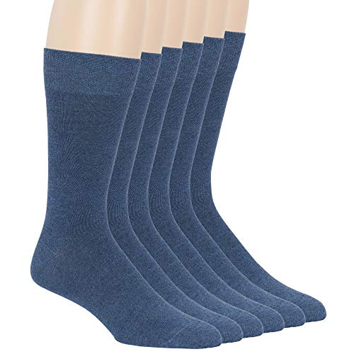 7BigStar Men Bamboo Dress Sock-6 Pack -XL/L/M- Black Khaki Beige Brown Grey Charcoal Navy Blue