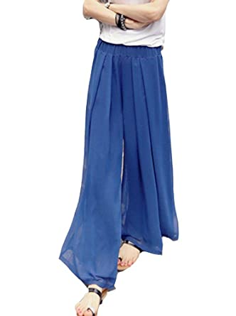 Pantalones Anchos Mujer Pantalones De Casual Tiempo Largos ...