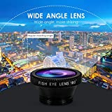 Hemobllo Portable Cell Phone Camera Lens Super Wide