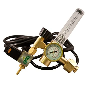 GRO1 CO2 Grow Room Environment Regulator Flow Meter Solenoid