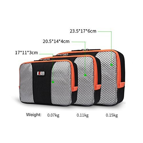 BUBM Electronic Organizer Bag Zippered Mesh Smok Vape Travel Accessories Carry Case of Computer Accessories Power Bank Phone Charger USB Cable Adapter Traveling Gear (Black)