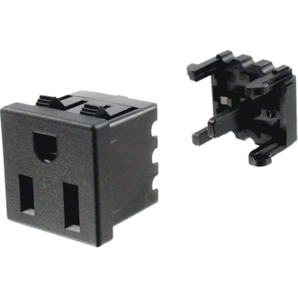 Power Outlet; NEMA 5-15R; Snap in; Right Angle; IDC Terminal - Pack of 50