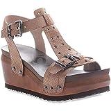 OTBT Women's Caravan Platform Sandal, Stone, 6.5 M US