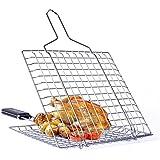 dingsheng cuadrado peces red de oveja pollo barbacoa clip carpeta acero inoxidable barbacoa para asar a