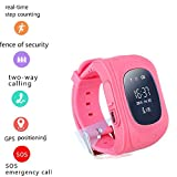 Kids GPS Smart Watch SOS Call Location Finder Locator Device Tracker for Children Safe Anti Lost Monitor Baby Gift GPS Tracker Pink