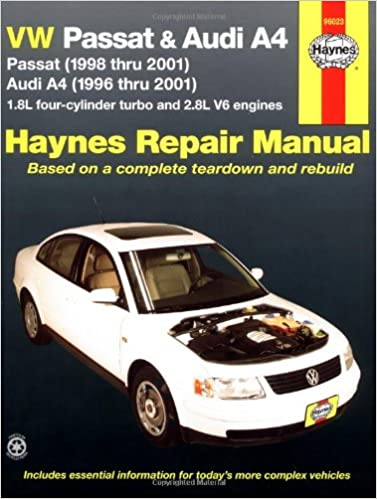 VW Passat and Audi A4 Automotive Repair Manual: 1996-2001 Haynes Automotive Repair Manuals: Amazon.es: Eric Godfrey, J. H. Haynes: Libros en idiomas ...