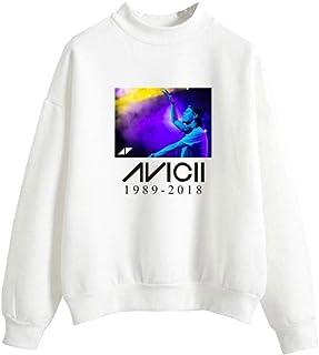 BESTHOO Unisex DJ Avicii Fashion Rundhals-Pullover mit hohem Kragen Sueter Sudaderas Adecuado para Ni?os y ni?as Hoodie Jersey F143570QJ1LI