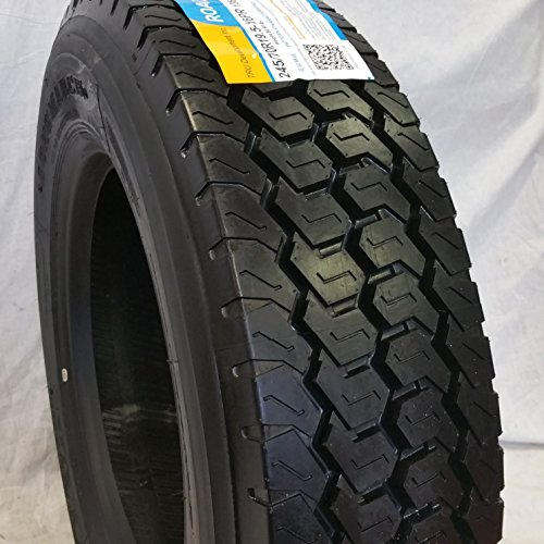 (4-TIRES) 245/70R19.5 H/16 NEW ROAD WARRIOR LONG MARCH LM-508 DRIVE ALL POSITION TIRES 16 PLY 24570195 by ROAD WARRIOR