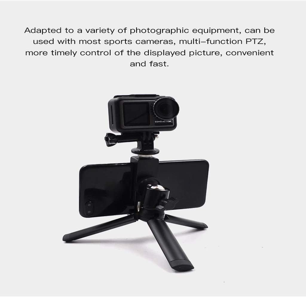 Black Aluminum Alloy Phone Clip,Zhaowei STARTRC for DJI OSMO Action Camera Stabilizers Holder Camera Handheld Bracket