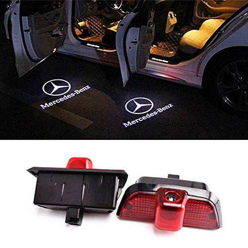 AutoPart for Mercedes-Benz c230 c260 c280 c200 c300 Car Door Logo Projector Ghost Shadow Led Light -2pcs