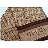 """GG"" Monogram Small Logo Designer Scarf Inspired, Gold Fashion Wrap Pashmina Gift İdeas, Scarves for Women,""GG"" Logo Replica Cashmere-Wool-Silk Blend Scarf Fashion Accessory"