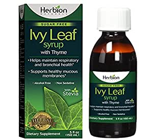 Herbion Naturals Ivy Leaf Syrup with Thyme, 5 fl oz- Helps Maintain Respiratory and Bronchial Health, Supports Healthy Mucous Membranes, Effective for Adults and Children
